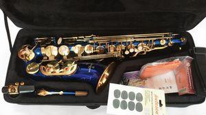 Blue Gold Key Yanazawa A-W02 Alto Saxophone Super Play Sax Musical instrument professional With case Free shipping