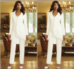 abito in chiffon bianco madreperla della sposa veste maniche lunghe scollo av maniche lunghe abiti da sposa economici madre plus size abito da sposa madre