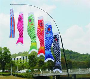 Koinobori Koi Nobori carpa Windsocks serpentinas colorido pescado bandera decoración Med pescado cometa bandera colgante pared decoración 40 cm 55 cm 70 cm 100 cm 150 cm