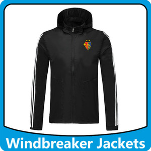 FC Basel calcio a vento giacche con cappuccio Sport cappuccio, FC Basel con cappuccio cerniera Windbreaker cappotto invernale Calcio Running Giacche