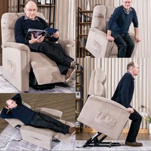Power Lift Soft Chair Fabric Recliner Salon Salon Canapé avec télécommande décoration En stock