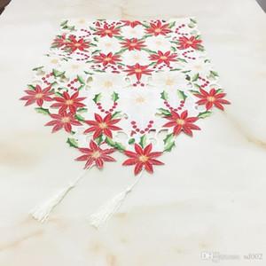 Natal Runner Tabela alto grau toalha de mesa bordados ocas Panos vender bem clássicas flores Decore plantas Exteriores Original 36kyb1
