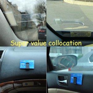 clip Parking pour véhicules de billets permis Porte-clip autocollant de pare-brise fenêtre porte Fastener Bill Accessoires