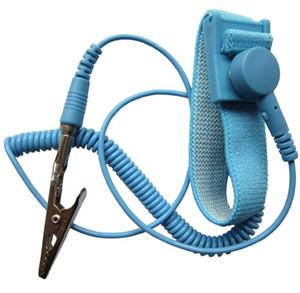 جديد مكافحة ساكنة الاستاتيكيه esd للتعديل رباط المعصم باند التأريض كهرباء حزام أزرق