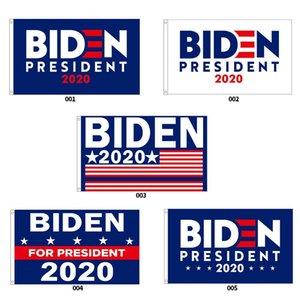 Biden Başkan Bayrak Banner 2020 Polyester Konfedere Bayrağı Kafa Metal Gromet Kişilik Dekor 90 * 150cm Mavi Beyaz Banner Bayraklar DHB350