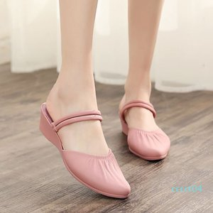 Summer female sandals Roman wedge sandals fashion shoes for women low-heeled Casual Ladies Shoes designer ct4