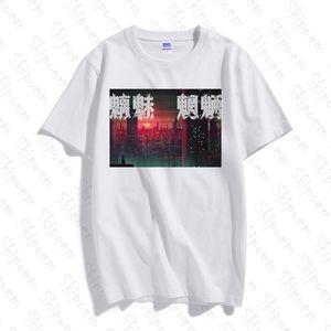 Moda divertente punk Inspirational cinese maglietta uomini Harajuku casuale nuova annata cotone Skipoem breve estate del manicotto Tops Clothes