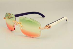 2019 nuevas ventas libres directos envío cuernos caliente-venta de gafas de sol lentes naturales 8300075 sombrilla mezclado demasiado vasos, los diamantes de DHL unisex l Xgin