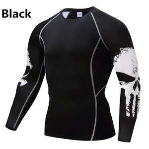 Il nuovo modo Punisher Mma magliette compressione girocollo Tops Designer camicia sottile Mens Poliestere camicia attiva goccia Shippinj