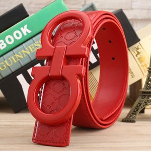 Nouvelle marque couleur rouge ceinture des femmes des hommes de qualité véritable Designer Q Ceinture en cuir de vache pour des femmes d'hommes Ceintures pour le cadeau 7787