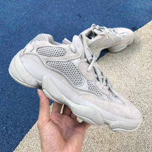 2019 fashion luxury off men women Kanye designer platform basketball shoes para hombre 500 salt bone white sneakers loafer star casual calzado
