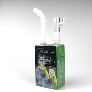 Nuovo 14 millimetri Hitman Bong Juice Box Rig con 7,5 pollici Colorful oil rig Juice Box Piazza Beaker Heady Glass Bong fumare