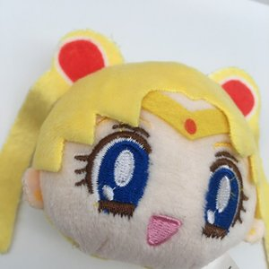 1pcs Cute Anime Sailor Moon Mini Keychain Creative Cartoon Tsukino Usagi Car Bag Xmas Soft Plush Pendant Toys Lovely Keyring 9cm