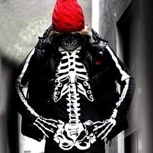 gant vélo manches gants de Halloween accessoires cosplay hollowen os de la main longue main os manches sports de plein air