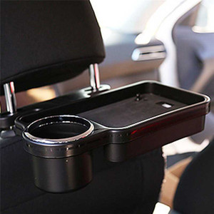 Car Auto Rear Back Seat Table Drink Cup Tray Holder Desk Stand Mount Car Seat Back Meal Tray Foldable Desk Table Stand