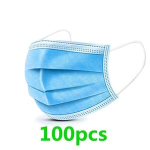 With Real Layers Spot Three Disposable Of Mask Thickened Fused Spray Cloth, Dust-proof, Ventilating And Filtering Face Mask 2G2FH