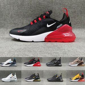 Nike Air Max 270 Ucuz Koşu Ayakkabıları Erkekler Kadınlar Trainer DOĞRU Sıcak Punch Üçlü Siyah Beyaz Oreo Teal Fotoğraf Mavi Spor Spor ayakkabılar Boyut 5,5-11 MM6591 BE