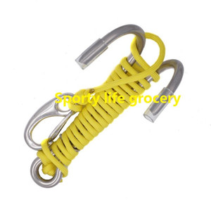 Scuba Diving Double Dual Stainless Steel Reef Drift Hook with Line and Hook for Current Dive Underwater