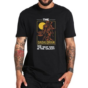 The Dadalorian T Shirt The Best Dad in The Galaxy Funny T-Shirt Soft Breathable Premium Tee 100% Cotton Tops