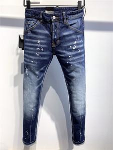 ROMANZO teez SS20 superiore D2 di marca di qualità del progettista Uomini Denim pantaloni freddi Guy jeans del ricamo di modo Fori Pantaloni Italia Dimensione 9702 44-54 # 01