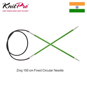 1 шт Knitpro Zing 150 см фиксированная круглая вязальная спица