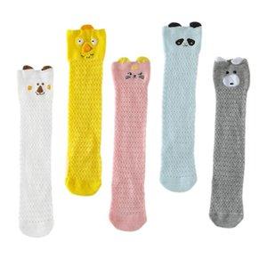 Multicolor Summer New Pattern Cute Cartoon Baby Cotton Knee High Socks Anti Mosquito Mesh High Quality Fashion Stockings
