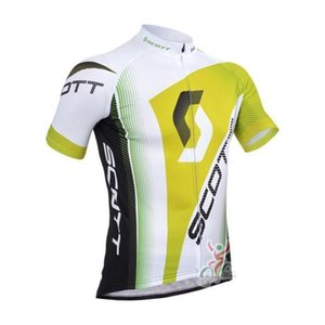 Best Scott Team Cycling Short Sleeves Jersey Bib Shorts Sets Men \&#039 ;S Summer Breathable Runing Riding Quick Dry Clothes Ropa Ciclismo