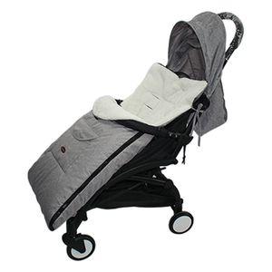 Baby Stroller Sleeping Bag Warm Foot Cover Winter Warm Stroller Footmuff Thick Warm Wheelchair for Newborns Sleep Sacks-Gray