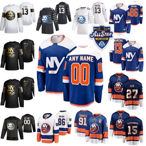 2020 New York Islanders 44 Jean-Gabriel Pageau Eishockey Trikots Frauen 4 Andy Greene Mathew Barzal Anders Lee Matt Martin All-Star Individuell