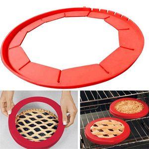 """Protezioni transistor regolabili per torta a crosta in silicone, FDA Silicone per alimenti, misura 8.5 """"- 11.5"""" (rosso, blu)"""