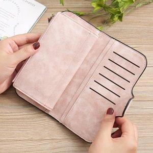 2020 женские Deisgner Wallet Малый Матовый кожаный многофункциональный большой емкости длинный бумажник мешок карты сцепления тенденции моды LadyS сумочку
