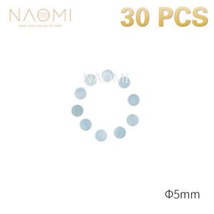 NAOMI 30 STÜCKE Gitarre Punkte 5mm Weiß Perlmutt Muschel Griffbrett Punkte W / Inlay Für E-Gitarre Ukulele Griffbretter Neu