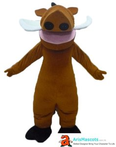 Drôle de porc sauvage Pumbaa mascotte Costume Party événement Cartoon mascotte Aris Made Mascottes Mascottes Theme Park Mascot character design Mascota
