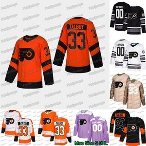 33 Cam Talbot Philadelphia Flyers 2019 Stadyum Serileri Wayne Simmonds Claude Giroux Oskar Lüder Carter