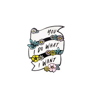 Candy Girl Heart Butterfly FY Flower I do what I want Pins Sweet Brooches Collection Lapel pin Enamel pin Badge for Women Men
