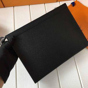 M61692 N41696 Genuine couro Mens Clutch Bag de Higiene Pessoal Bolsa Bolsas Wash Bolsa Make Up Box Men zippy 27cm saco