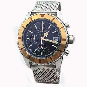 Новые дизайнер часы мужчины Superocean наследие хронограф VK кварцевые мстители 46мм мужские часы браслет из нержавеющей стали наручные часы мужской роскоши