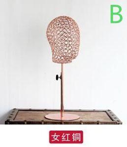 3colour ferro Bambini testa di manichino cappello sciarpa puntelli muffa testa mestiere gioielleria cava, gioielli gioielli maschili parrucca cuffie 1pc B534
