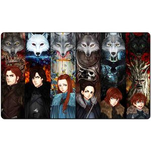 Magic Board Game Playmat:The Names of the Stark Direw60*35cm size Table Mat Mousepad Play Matwitch fantasy occult dark female wizard2Trial o