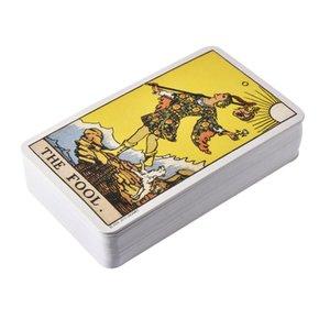 2020 كاملة الإنجليزية مشع رايدر انتظر التارو بطاقات مصنع صنع جودة عالية سميث التارو سطح السفينة بطاقات لعبة المجلس
