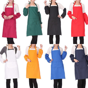Sleeveless Kitchen Cooking Apron with Pocket for Women Men Home Kitchen Restaurant Accessories