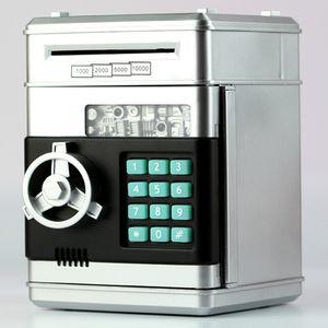 Электронные Piggy Bank Safe Box Денежные ящики для детей Цифровые Монеты Наличный Saving Депозитная Банкомат Кид Рождественский подарок SH190929