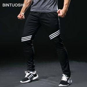 BINTUOSHI Correr Pantalones Hombre con los bolsillos de entrenamiento de fútbol de fútbol pantalones de jogging aptitud Pantalones entrenamiento del deporte
