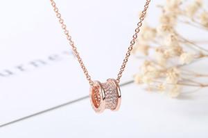 Diseñador 925 Tambor de Plata Esterlina Cintura Pequeña Collar Colgante de Las Mujeres Regalo de San Valentín Regalo de Boda Joyería de Lujo 1: 1 Alto Quanlity Caliente