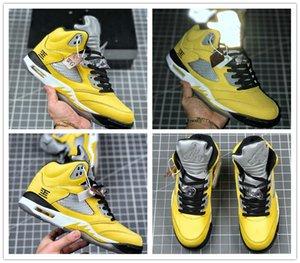 Jumpman 5 Wings 75 Paris Camo Premium Heiress Metallic Field Fresh Prince Mens Retro Basketball Shoes Most Popular 5s Sneakers Shoes US 7-13
