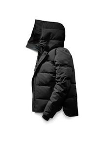 Novo estilo Canadá Inverno Homens Homme Inverno Jassen Chaquetas Parka Casacos Big Fur com capuz Fourrure Manteau Down Jacket Brasão Hiver Doudoune