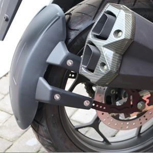 펜더 스플래쉬 가드 리어 휠 커버 가드 흙 받이 W / 브라켓 액세서리에 대한 보편적 인 검은 색 플라스틱 오토바이 후면 휠