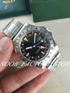 Versión de lujo de la vendimia BP fábrica antiguo Mejor 2813 GMT MOVIMIENTO 1675 hombres de la vendimia del reloj movimiento automático Naranja hombres del dial clásico