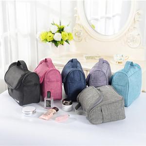 Multifuncional Hanging de Higiene Pessoal Storage Bag Makeup Organizer Grande Capacidade impermeável Cosmetic Armazenamento Folding Bolsas DH01018 T03
