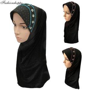 High Quality Muslim One Piece Amira Hijab Beading Pull On Islamic Scarf Head Wrap Pray Scarves Ramadan